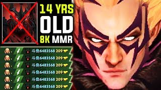 OMG 14 Years Old Kid 8K MMR [INVOKER] Spammer - Destroying Every One Young Sumiya Dota 2