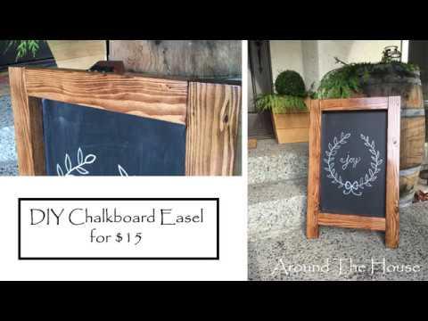 DIY Chalkboard Easel for $15