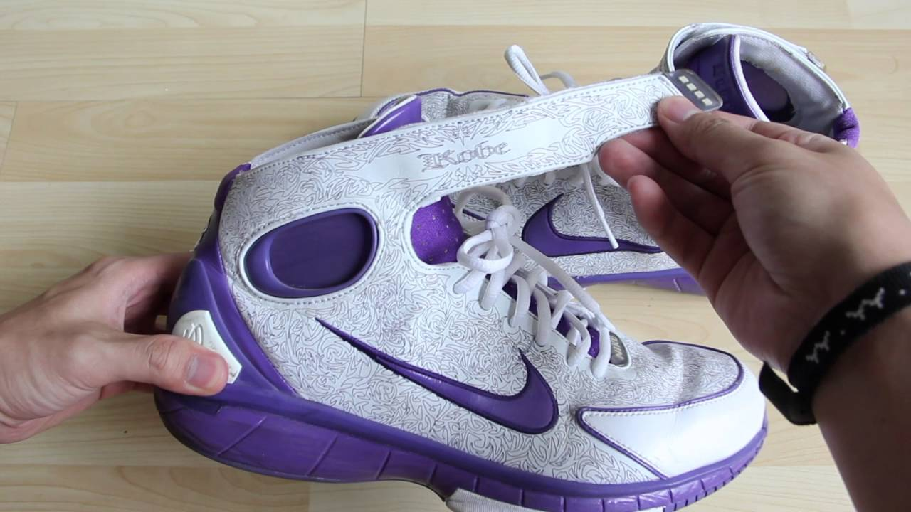 074ce256c811 Nike Zoom Huarache 2k4 Kobe Laser (White Purple) - YouTube