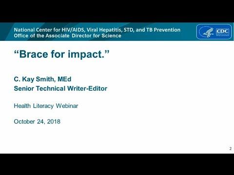 Brace For Impact - Health Literacy Training Webinar