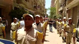 جنازة الشهيد النقيب عمر ياسر عبد العظيم معاون مباحث مركز شرطة أبو حماد،