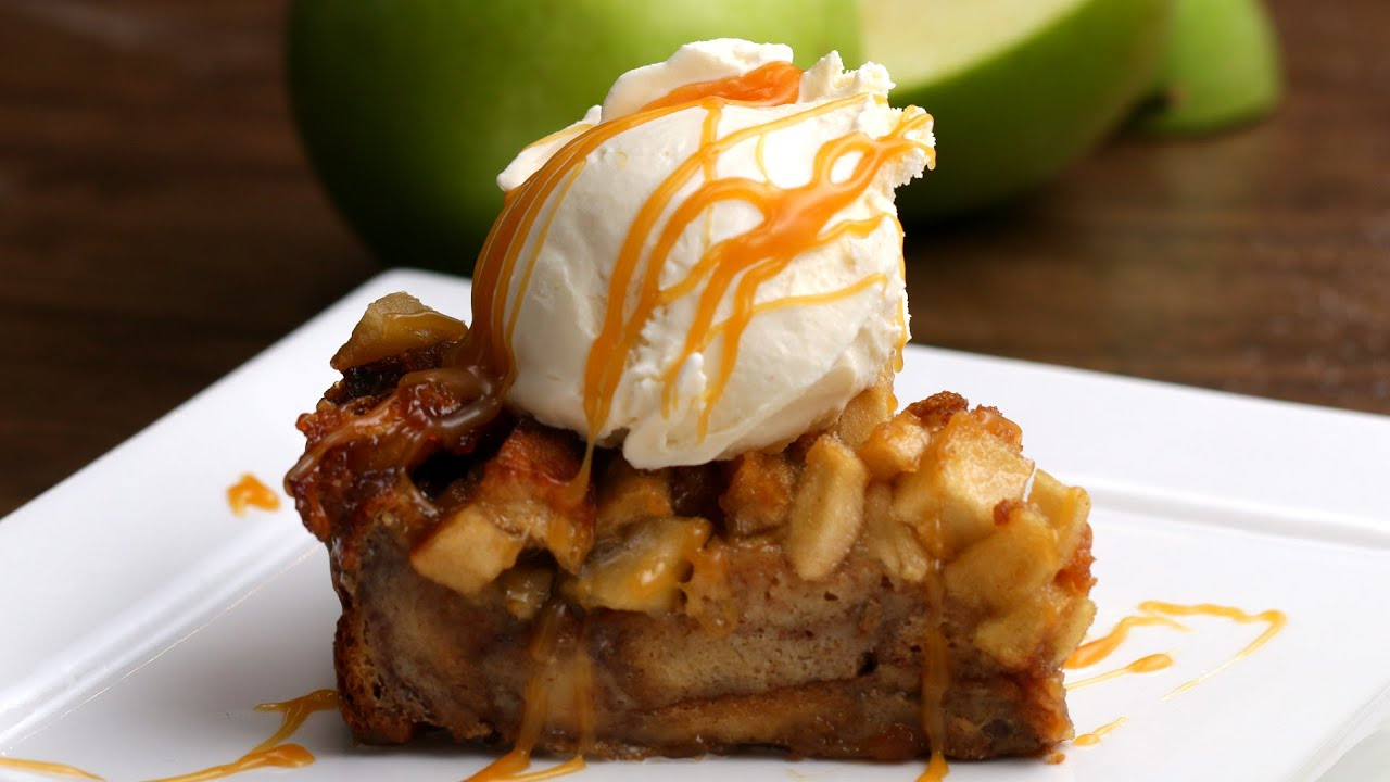 Apple Pie Bread Pudding - YouTube