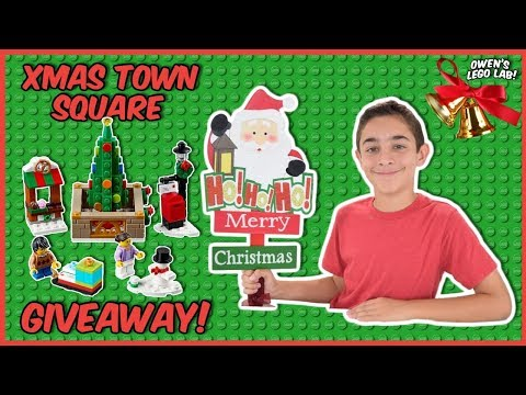 LEGO Christmas Town Square #40263 GIVEAWAY!