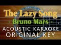 The Lazy Song - Bruno Mars [Acoustic Karaoke]