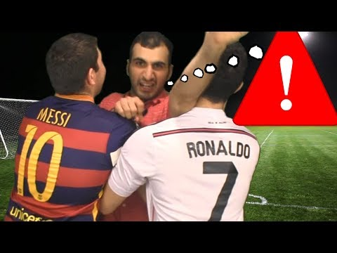 Cristiano Ronaldo vs. Messi -  Meeting a Fan | In Real Life!
