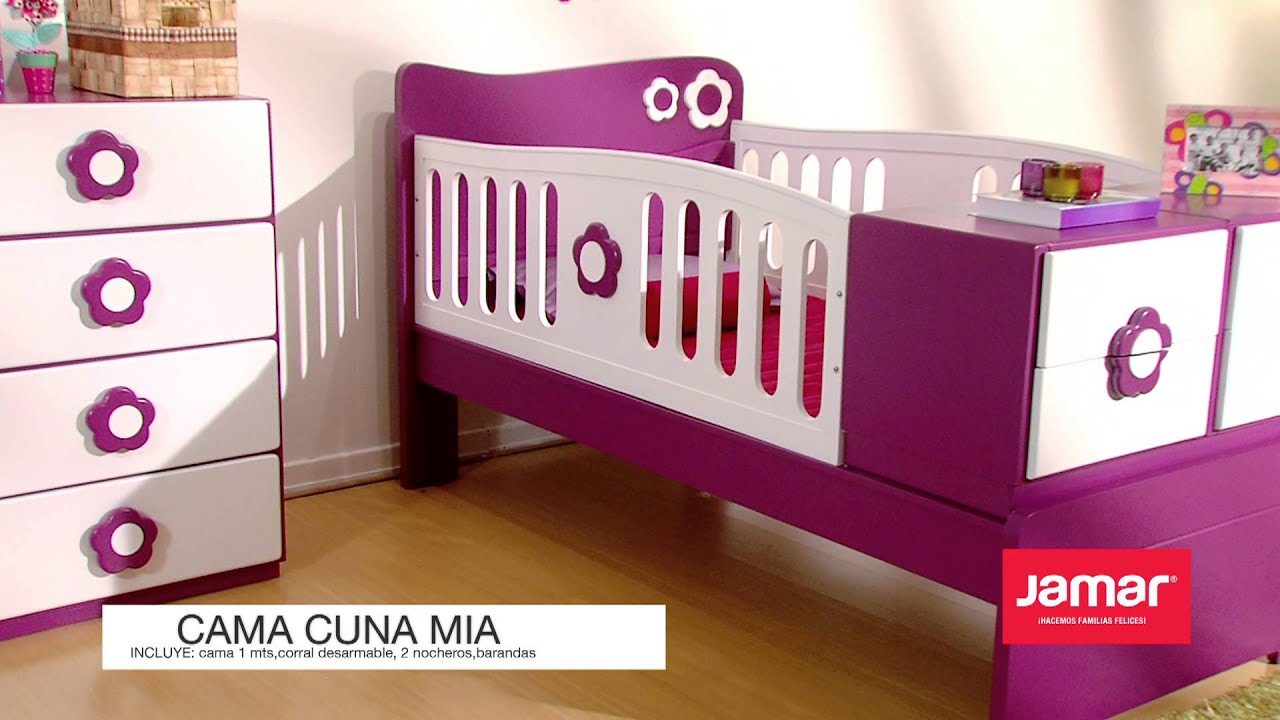 Jamar familias felices 2013 cama cuna mia youtube for Mueble jamar