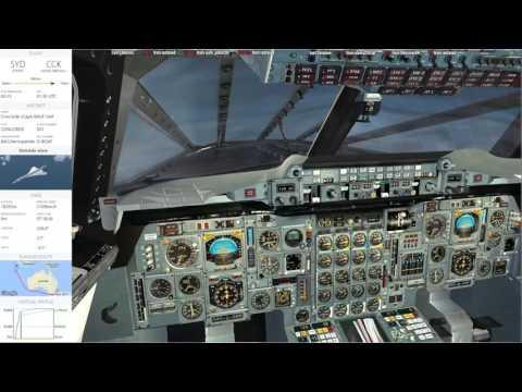 Flug vom 25.06.2017YSSY Sydney to YPCC Cocos Keeling Part 2
