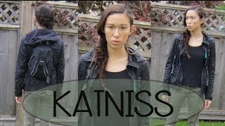 KATNISS EVERDEEN (Hair, Makeup, and Outfit Idea! | Last Minute Halloween Costume)