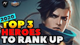 TOP3 BEST HEROES to RANK UP in MOBILE LEGENDS