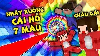 Rex Và Noob Troll Cháu Ngoại Nhảy Xuống Cái Hố 7 Màu Trong Minecraft Sẽ Như Thế Nào ??