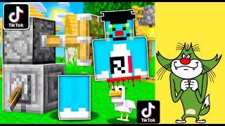Minecraft | Tiktok Hacks | With Oggy And Jack | Tiktok| Minecraft Pe | In Hindi | Rock Indian Gamer