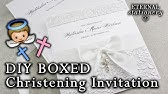 How To Make A Cute Christening Baptism Invitation Card