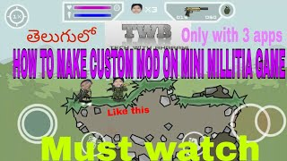 How to make Custom mod on mini militia or add your face in game by TWB Tech With Bharani in telugu