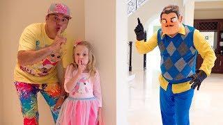 Stacy und Papa versuchen, Freunde mit wütender Nachbar zu sein