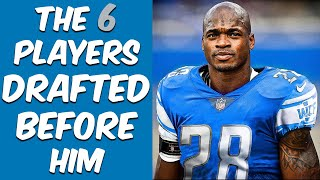Who Were The 6 Players Drafted Before Adrian Peterson? Where Are They Now?
