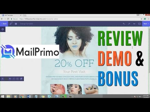 MailPrimo Demo Bonus - All In One Email Marketing Software With No Monthly Payment. http://bit.ly/33Ze2Iq
