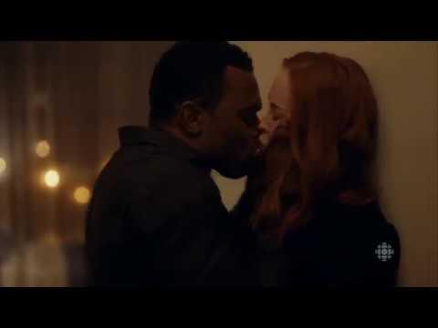 Lyriq Bent   Kevin Lutz Daisy kiss  2   Shoot the Messenger  tv series  DRAMA