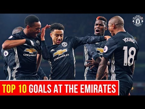 Top 10 Goals | United at the Emirates | Manchester United v Arsenal