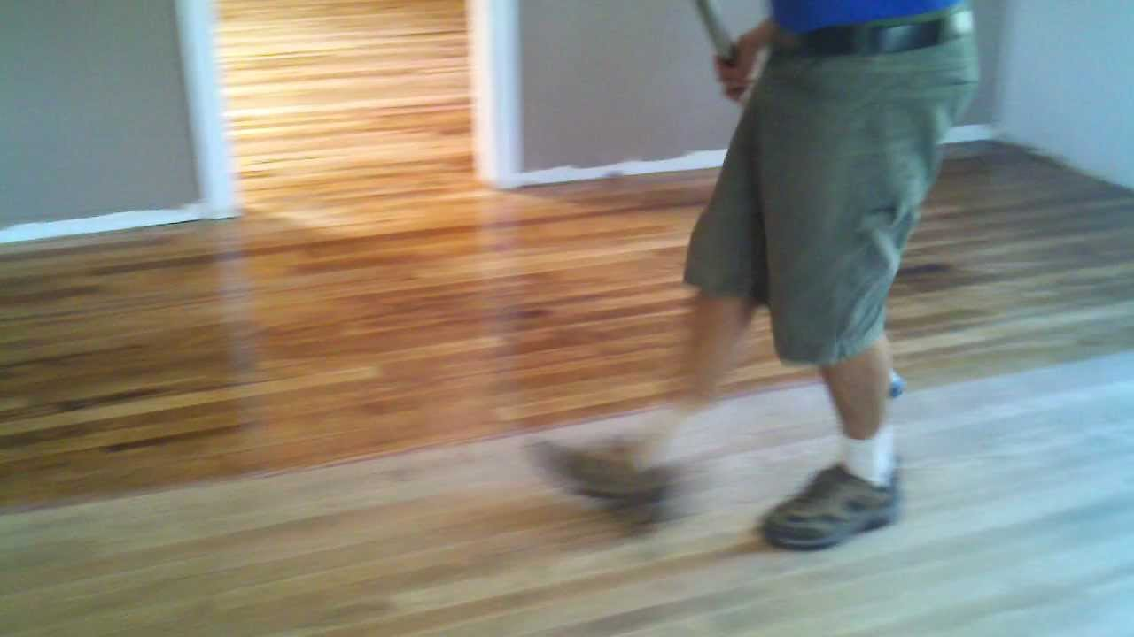 Applying Bona Mega Waterborne Wood Floor Finish In Phoenix