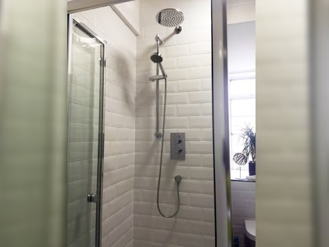 how to renovate bathroom and install a shower cubicle london & how to renovate bathroom and install a shower cubicle london - YouTube