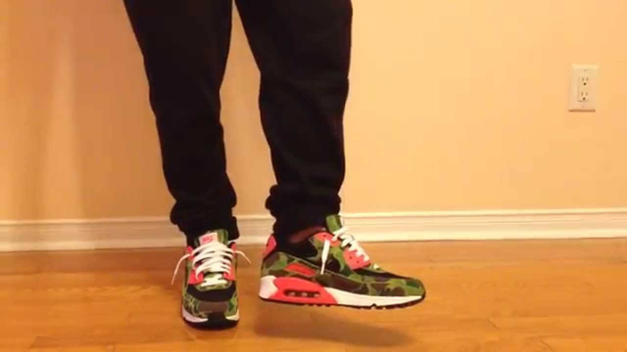 usa nike air max 90 camo on feet e800a 152b1