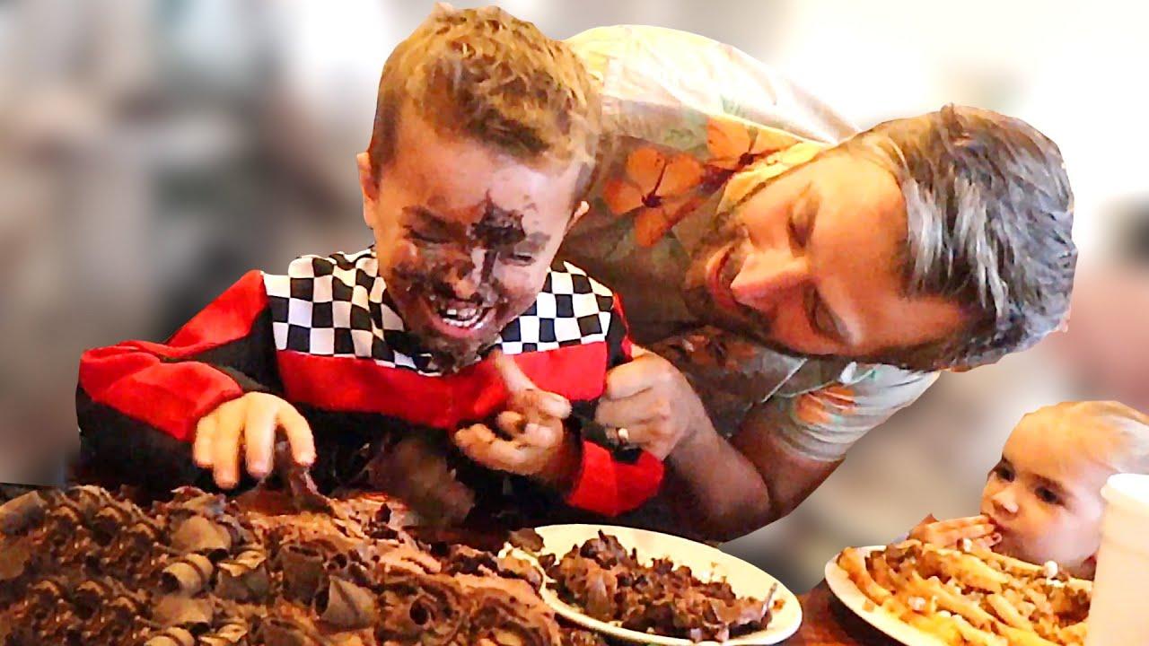 Birthday Boy Gets Face Smashed into Cake! - YouTube