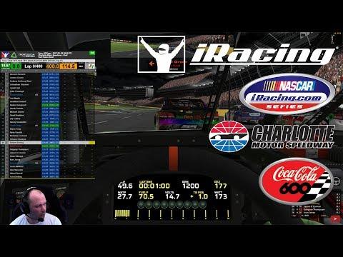 20170528 - NASCAR iRacing Series - Charlotte Motor Speedway - Open setup 400 laps