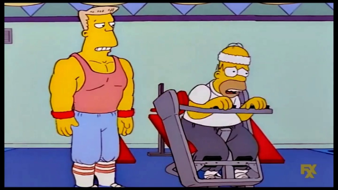 The Simpsons Homer Slims And Gets Muscles Clip Youtube