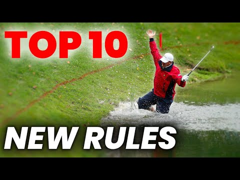 NEW GOLF RULES 2019 - The 10  Most Important GOLF RULE  CHANGES