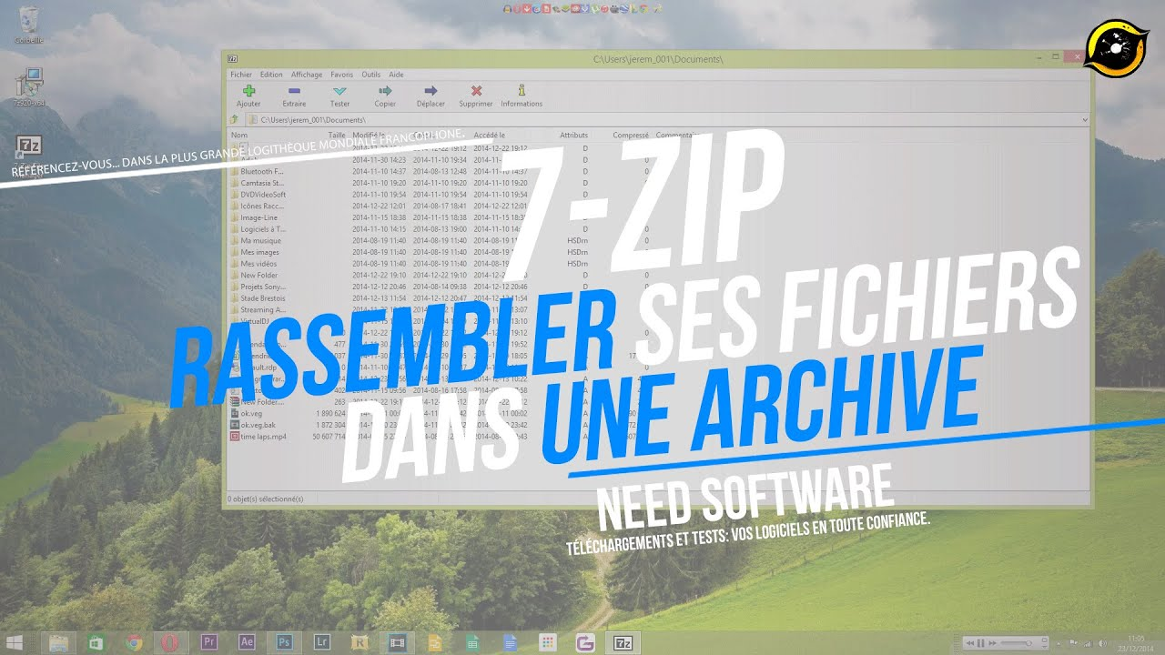 Comment Compresser Decompresser Un Fichier 7 Zip Youtube