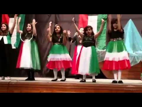 Kuwaiti dance at school (ESF)