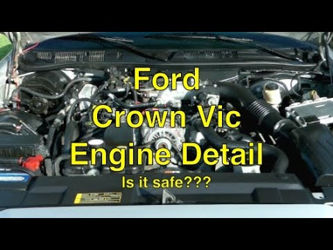 Ford Crown Vic engine bay detail wash clean