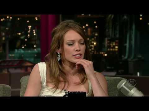 Hilary Duff on David Letterman 15aug06