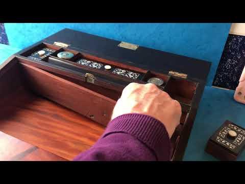Antique William IV Writing Box & Slope