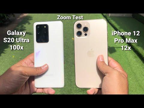 iPhone 12 Pro Max Vs Galaxy S20 Ultra Zoom Test | Galaxy S20 Ultra 100x Zoom Test
