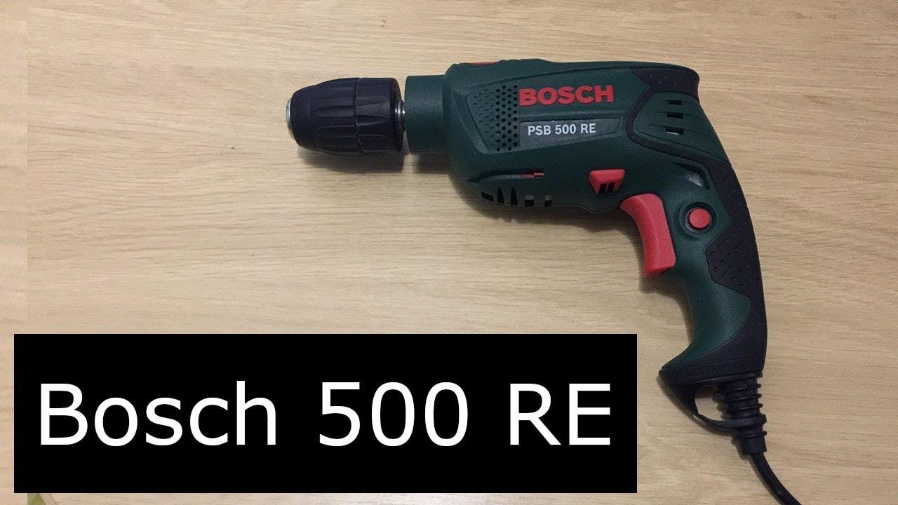 Ударная дрель bosch psb 500 re - распаковка и первые впечетления