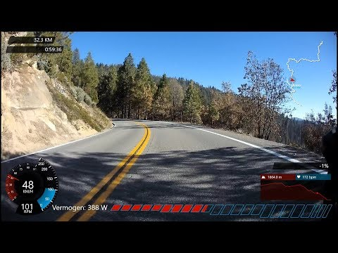 1 HOUR STRAVA KOM DESCENT DOWN GLACIER POINT YOSEMITE, INDOOR CYCLING MOTIVATION VIDEO
