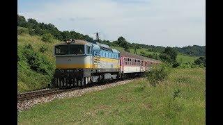 ESK081889 Diesel locomotive Retro style Zero Brejlovec ŽSSK 750 183 rušeň vlaky 슬로바키아 디젤기관차 тепловоз