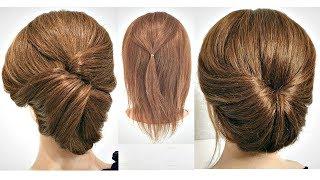 Топ 2 Супер Быстрых причесок для КОРОТКИХ волос Top 2 Super Fast Hairstyles for Short HAIR