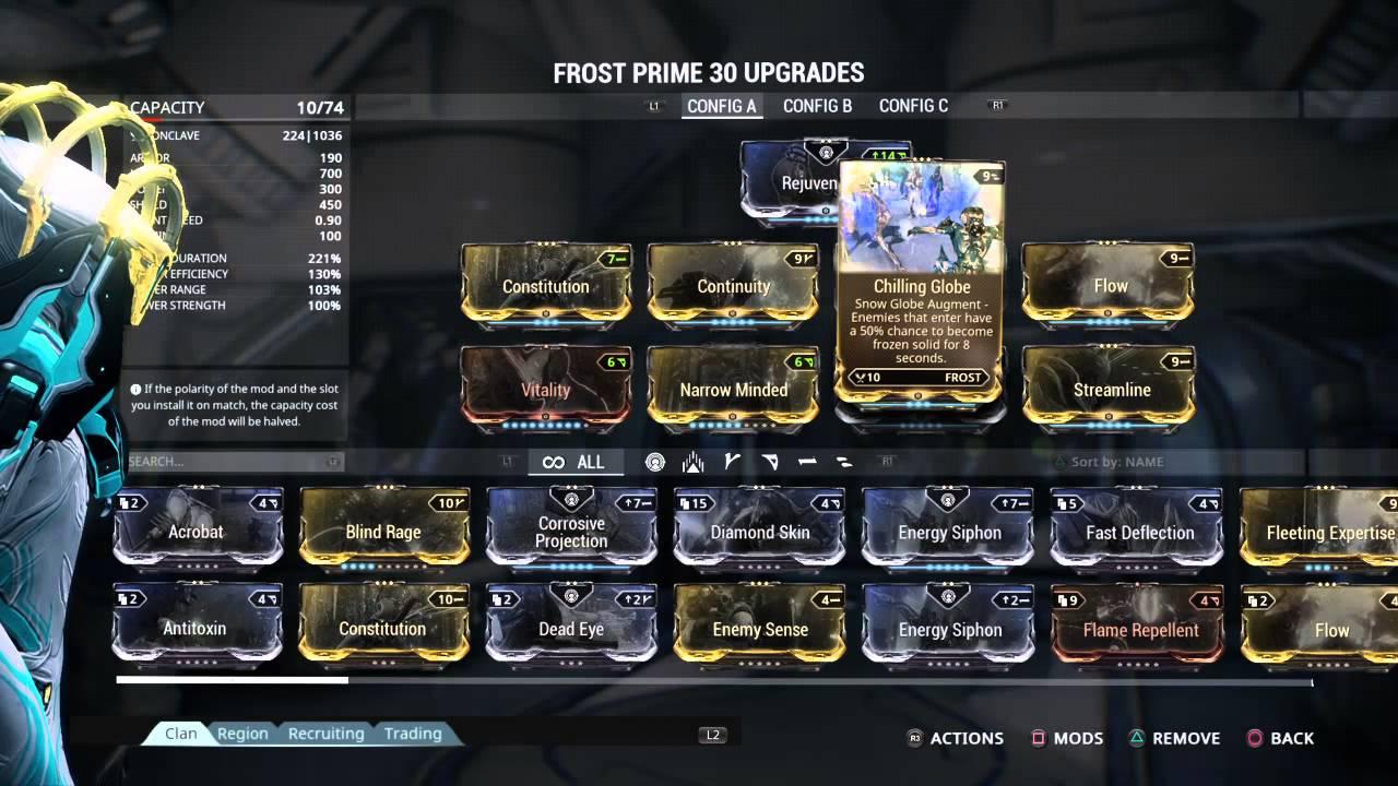 Warframe Frost Build