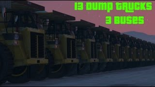 Jumping over 13 Dump Trucks and 3 Buses