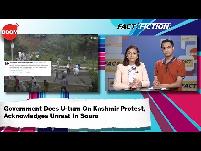 Government Does U-Turn On Kashmir Protest, Acknowledges Unrest In Soura