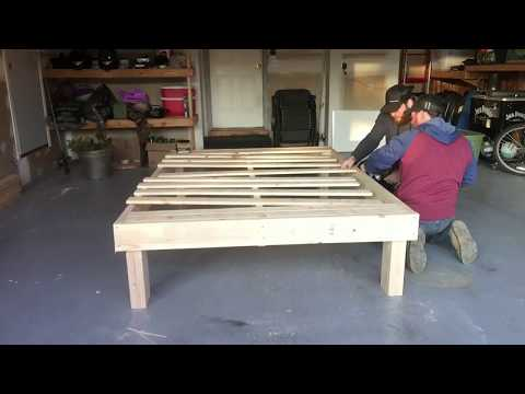 Quick, Easy, Affordable Bed Frame: Queen Size