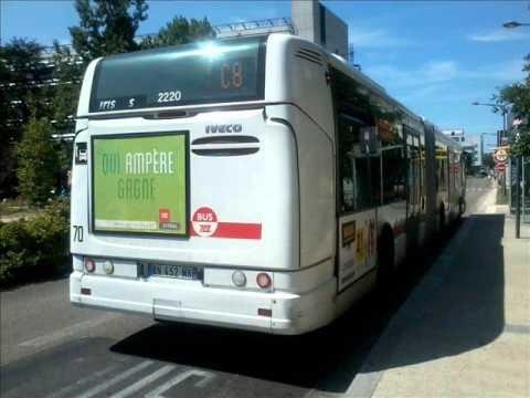 sound bus irisbus citelis 18 n 2220 du r seau tcl lyon sur la ligne c8 youtube. Black Bedroom Furniture Sets. Home Design Ideas
