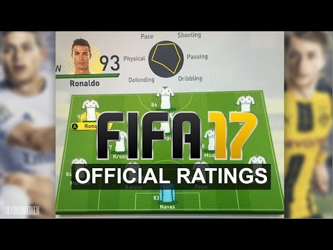 FIFA 17 Official Player Ratings All Demo Teams