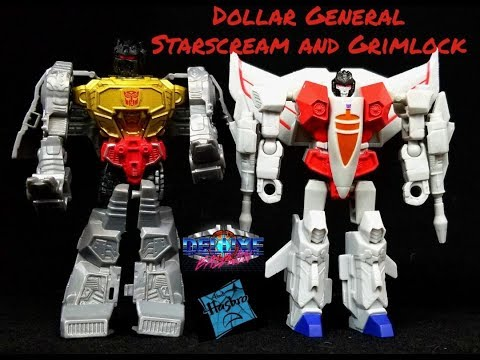 Transformers Review Of Dollar General Specials Starscream And Grimlock!!