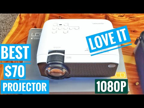 Apeman LC350 LED Mini Projector REVIEW from Amazon HDMI 1080P Works with Roku stick