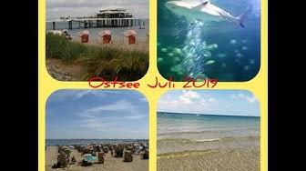 Ostsee Juli 2019: Scharbeutz, Timmendorfer Strand + Travemünde. Alle Strände + Yachthafen Travemünde
