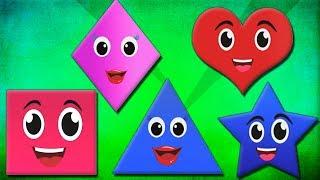 Forma canzoni per bambini filastrocche imparare le forme geometriche forme Shapes Song In Italian