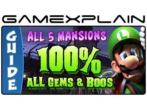 100% Luigi's Mansion 2: Dark Moon - Guide & Walkthrough (All 65 Gems and 23 Boos + Puzzles!)